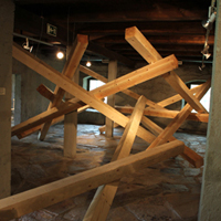 15 x 15 x 420- 540 cm wooden beams
